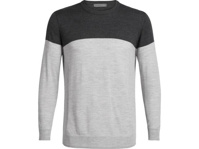 Icebreaker Shearer Crew Sweater Men, char heather/steel heather
